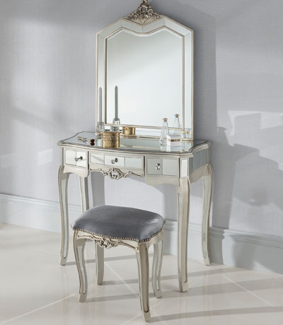 beautiful mirrored dressing table