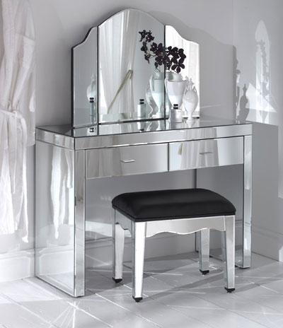 modern mirrored dressing table