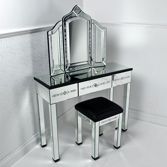 Etched Dressing Table Set