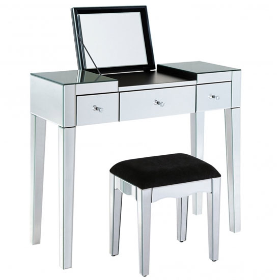 Modern Mirrored Dressing Table Set