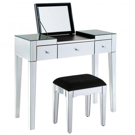 Modern Mirrored Dressing Table Set